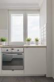 小舒适厨房 免版税图库摄影