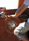 小船上尉 免版税库存图片