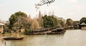 小船中国传统 库存照片