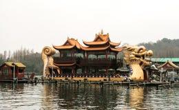 小船中国传统 库存图片
