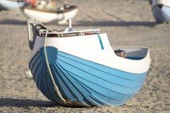 小船丹麦捕鱼 免版税图库摄影