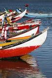 小船五颜六色的捕鱼 免版税库存图片
