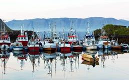 小船企业捕鱼 免版税库存照片