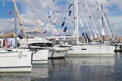 小船伊斯坦布尔显示 免版税库存图片