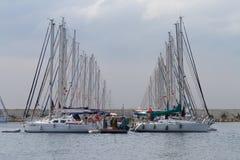 小船伊斯坦布尔显示 库存图片