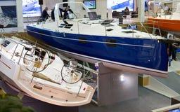 小船伊斯坦布尔显示tuyap 免版税库存照片
