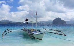 小船传统的菲律宾 免版税库存照片