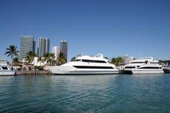 小船佛罗里达迈阿密 免版税图库摄影