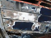 小船修理 免版税库存照片