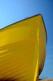 小船划船黄色 免版税库存照片