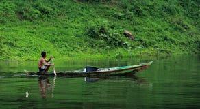小船划船 库存图片