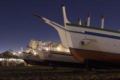 小船到沙子里 免版税库存照片