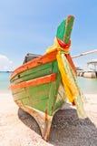 小船前面做木头 免版税图库摄影