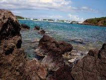 小船加勒比culebra瞥见波多里哥 免版税图库摄影