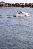 小船加速 免版税库存图片