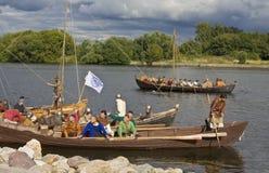小船北欧海盗 库存照片