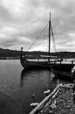 小船北欧海盗 库存图片