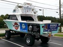 小船卡车 免版税库存图片