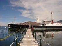 小船历史湖titicaca yavari 库存照片