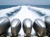 小船发动机速度 免版税库存照片