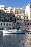 小船发展实际庄园的港口 库存照片