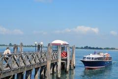 小船向威尼斯 库存照片