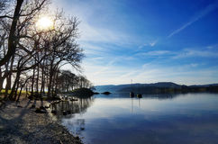 反射在湖Windermere 图库摄影
