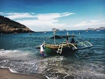 小船和波浪 库存图片