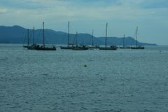 小船和海 免版税图库摄影