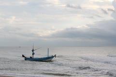 小船和海 库存图片