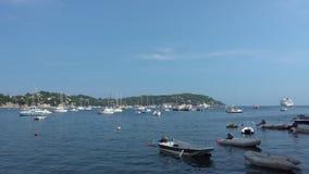 小船和游艇在滨海自由城 股票录像