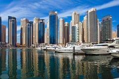 迪拜小游艇船坞,阿拉伯联合酋长国。 免版税库存图片