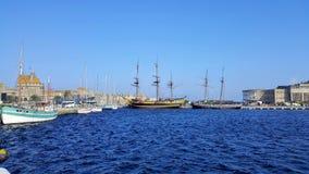 小船和yaot 库存照片