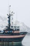 小船商业捕鱼业 库存照片