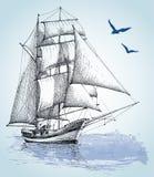 小船图画 库存例证