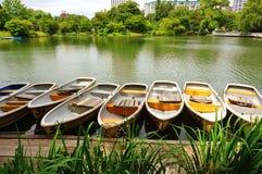 小船在公园 免版税库存照片