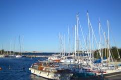 小船在哥本哈根 库存图片