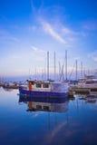 小船在多伦多港口 免版税图库摄影