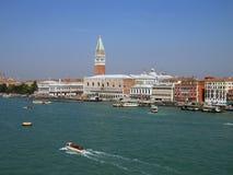 小船在威尼斯,意大利 库存图片