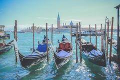 小船在威尼斯-意大利 库存图片