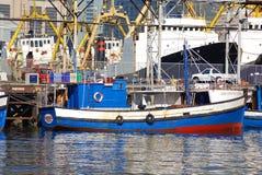 小船在开普敦港口  库存照片