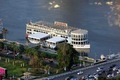 小船在开罗尼罗  免版税库存照片