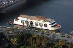 小船在开罗尼罗  库存照片