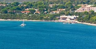 小船在撒丁岛 免版税库存图片