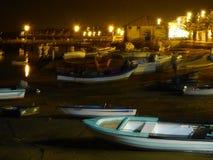 小船在晚上 免版税库存照片