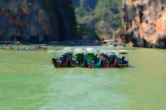 小船在普吉岛,泰国 免版税库存图片