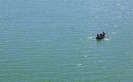 小船在水浮动 库存图片