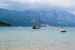 小船在海运 图库摄影