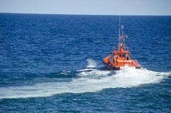 小船在海洋 图库摄影