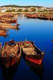 小船在港口 免版税库存照片